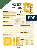 03a- Convertidor Tensión - Intensidad DC (Salida 0-10V, 4-20mA)