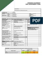 Grinding Equipment Risk Assessment