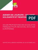Texte Avenir de l'Europe