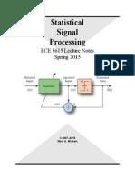 Statistical Digital Signal Processing