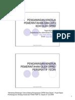 Presentasi Pengawasan Kinerja DPRD Depok