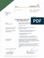 Test Certifcate REG D