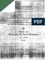 Henri CHALLAN 9 Basses Sur l'Ensemble Des Notes Étrangères
