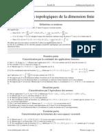 Caractérisations topologiques de la dimension finie