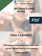 Campanie Ziua Nationala Fara Fumat