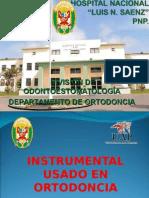 INSTRUMENTAL USADO EN ORTODONCIA 27SET2015.ppt
