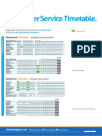 Thames Clipper Timetable