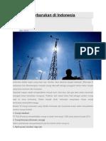 Potensi Energi Terbarukan Di Indonesia