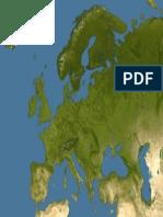 Europe Satellite Image Map