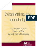 Environmental Impacts of Nanotechnology