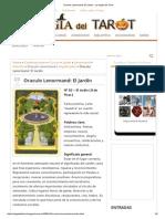 Oraculo Lenormand_ El Jardin - La Magia Del Tarot