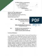 Letter Dated September 7, 2015 (Majayjay)