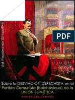 Iósif Stalin; Sobre la desviación derechista en el Partido Comunista (bolchevique) de la Unión Soviética, 1929