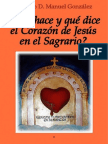 ¿Qué dice y qué hace el Corazón de Jesús en el Sagrario?