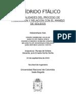 Anhidrido Ftalico - Primera Entrega
