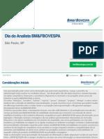 Comunicado ao Mercado - Dia do Analista SP - Outubro 2015
