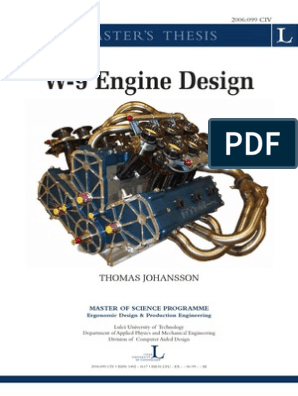 W9 Engine Desing Pdf Internal Combustion Engine Piston Free 30 Day Trial Scribd