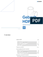 GEBERIT Building Drainage WEB HDPE Application Technique