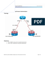 CCNPv7 ROUTE Lab8-2 Routing Protocol Authentication Student