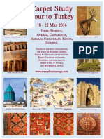 CARPET STUDY TOUR TO TURKEY