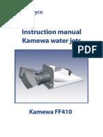 MANUAL FOR WATERJET FF410