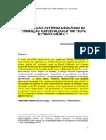 """Tautologia e retórica messiânica da """"transição agroecológica"""" na """"nova extensão rural"""""""