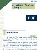 Control Volume Analysis Using Energy