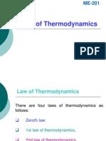 Law of Thermodynamics