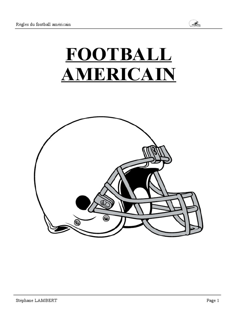 Regles Football Americain