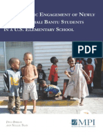 The Academic Engagement of Newly Arriving Somali Bantu Students in a U.S. Elementary School