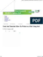 How to Write to a File Using Sed