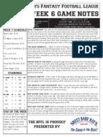 BFFL Notes Week 7