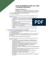 Sugestoes de Objectivos Para Actividades Do PAA
