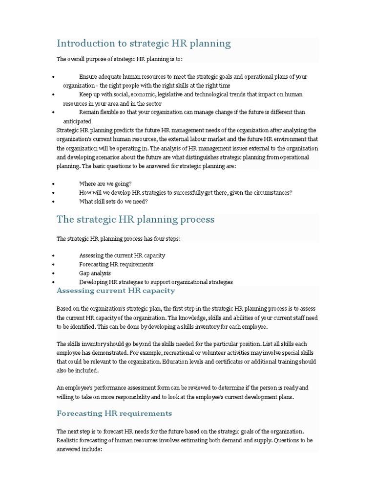 HR Planning | Human Resources | Employment