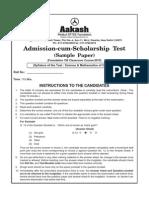 Sample Paper Foundation 2015 Class VIII