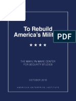 To Rebuild America's Military