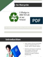 I Pledge to Recycle