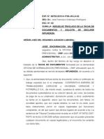 Absuelve Traslado de La Tacha de Documentos y Solicita Se Declare Infundada Jose Encarnacion Salazar Ruiz