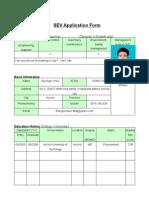 SEV Application Form