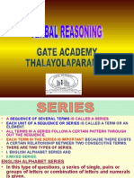 Verbal Reasoning - Series
