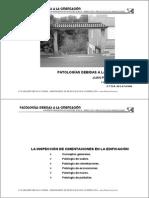 PATOLOGÍAS DEBIDAS A LA CIMENTACIÓN