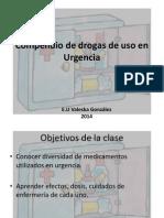 Compendio de farmacos de Uso en Urgencia