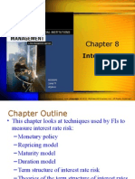 Chapter 8; interest risk I