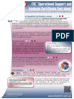 Fact Sheet - ITIL Operational Support and Analysis
