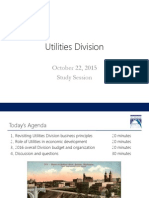 Utilities Division Study Session October 22 2015