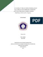 Aplikasi Ar-gamelan Sebagai Media Pembel