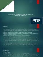 ALCANCES DE LA VALORACION EN  LA NUEVA LEY FORESTAL LEY 29763.pptx