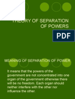 Separation of Powers1