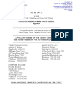 Perry's lawyers' brief (10/21/15) on Count II before Texas Court of Criminal Appeals