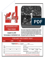 tony perez dinner ticket flyer